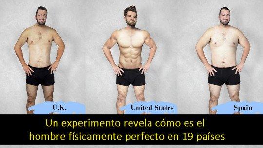 Um experimento revela como é o homem fisicamente perfeito em 19 países 1