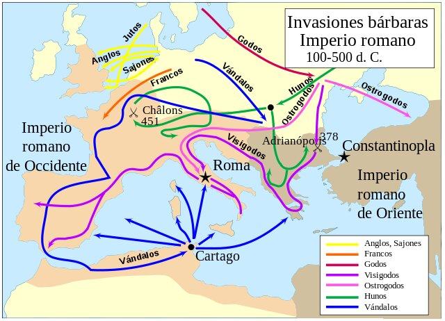 Invasões bárbaras: causas, desenvolvimento e consequências 1