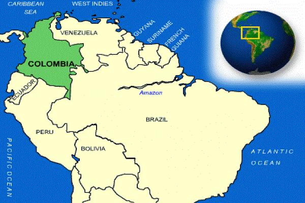 Qual é a posição astronômica da Colômbia? 1