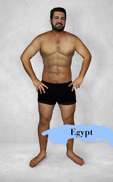 Um experimento revela como é o homem fisicamente perfeito em 19 países 8