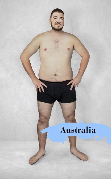 Um experimento revela como é o homem fisicamente perfeito em 19 países 3
