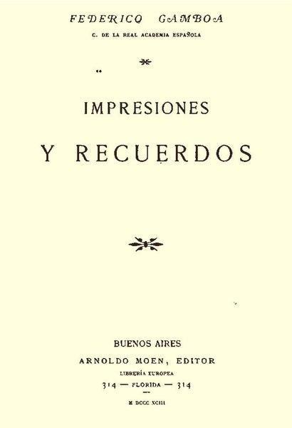 Federico Gamboa: biografia, estilo, trabalhos completos 3
