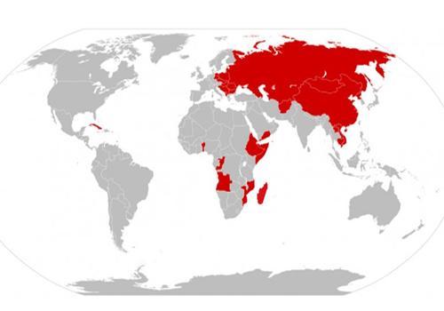 Os 31 países comunistas mais representativos 1