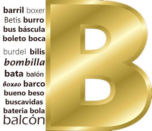485 Exemplos de Palavras com B (Ordem Alfabética)