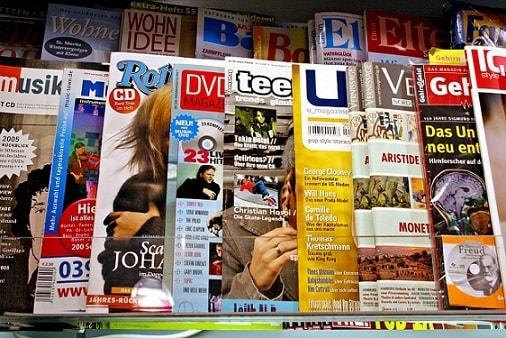 Partes de uma revista e suas características