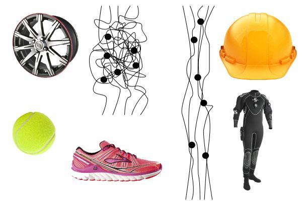 Que tipos de produtos são feitos com elastômeros? 1