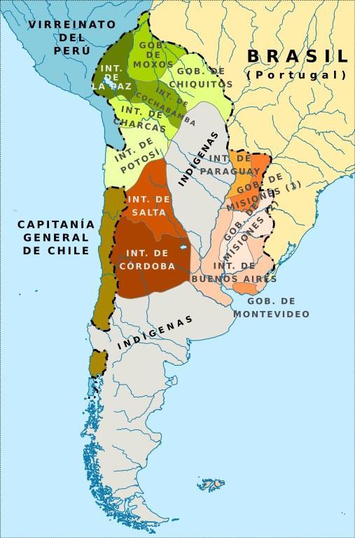 Vice-reinado do Rio da Prata: causas, história, política 2