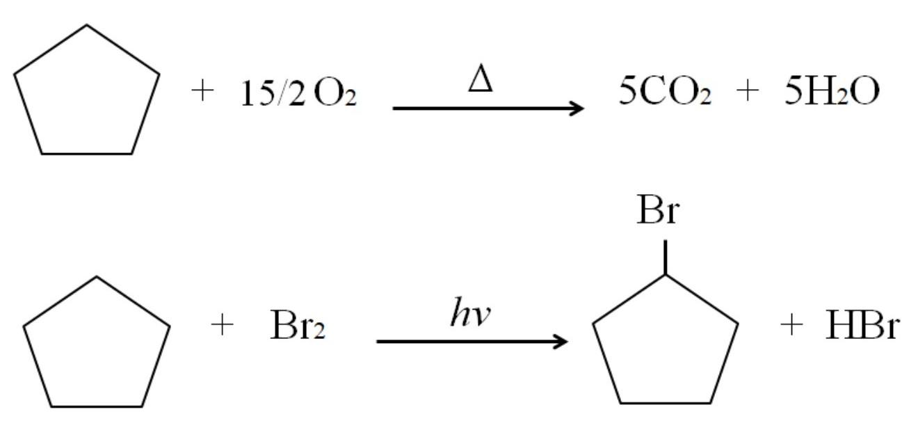 Cicloalcanos: propriedades, reações, usos, exemplos 4