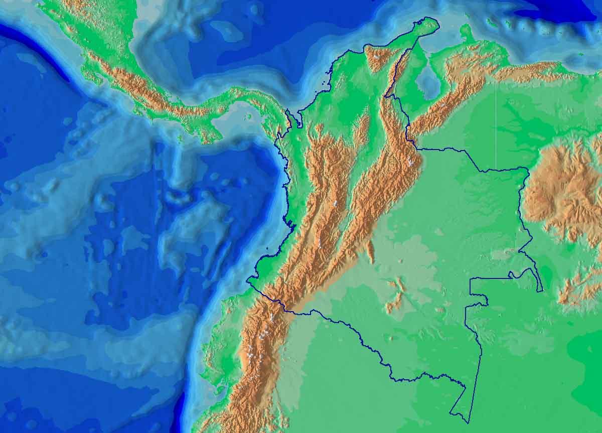 Relevo colombiano: cadeias de montanhas, montanhas, planaltos, planícies, depressões, ilhas 8