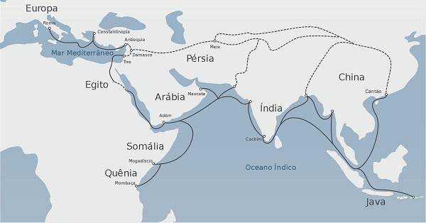 Rotas comerciais entre a Europa e a Ásia nos séculos XV e XVI 1