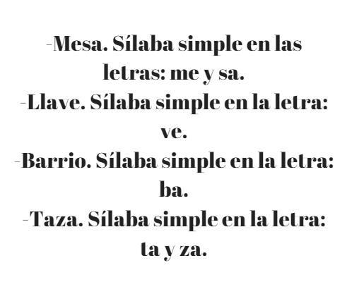 100 exemplos de sílabas simples 1