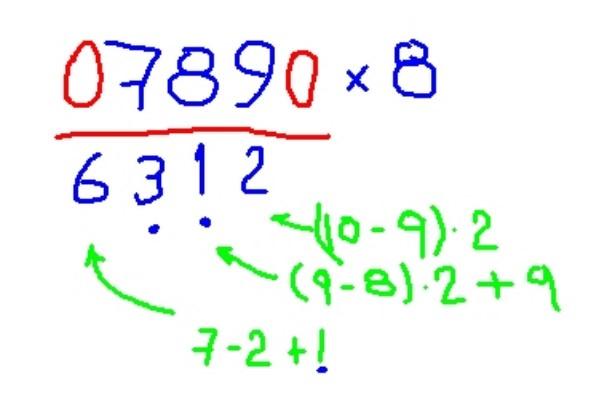Método de Trachtenberg: o que é, exemplos 6