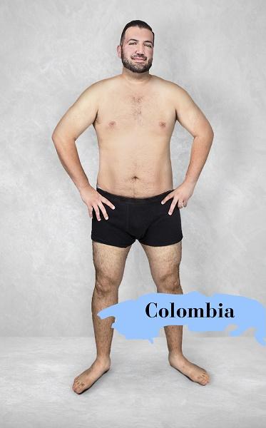 Um experimento revela como é o homem fisicamente perfeito em 19 países 6