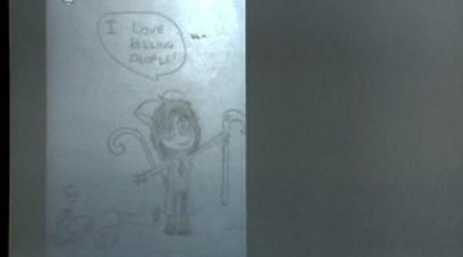Os desenhos assustadores de uma garota assassina de 12 anos 3