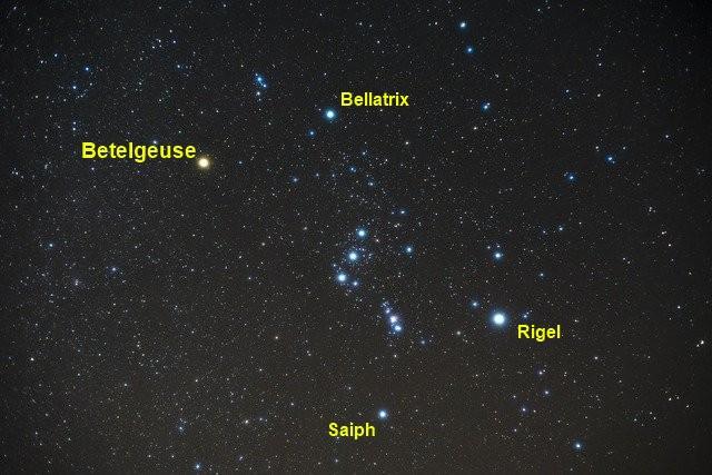 Betelgeuse: características, formação, estrutura e composição