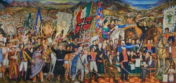 15 caracteres da independência do México