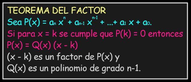Teorema do fator: explicação, exemplos, exercícios