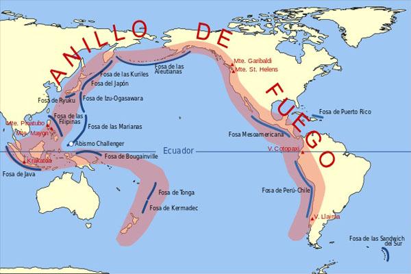 Anel de Fogo do Pacífico: localização, características, principais vulcões 3