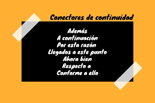 Conectores de continuidade: características, exemplos e importância