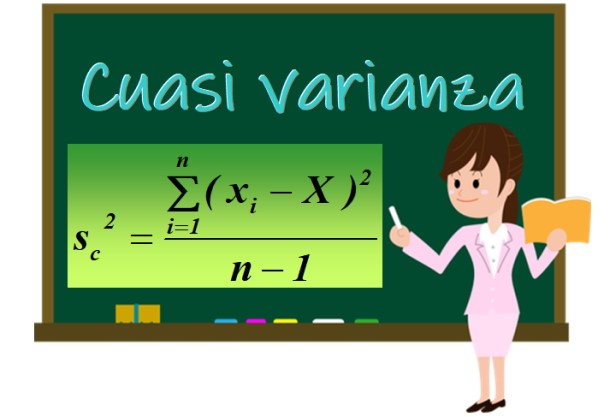 Quasivariância: fórmula e equações, exemplos, exercício