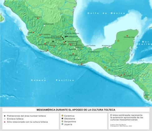 Cultura tolteca: origem, localização, características, organização