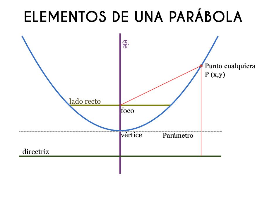 Quais são os elementos da parábola? (Peças)