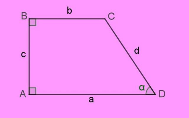 Retângulo trapézio: propriedades, relações e fórmulas, exemplos
