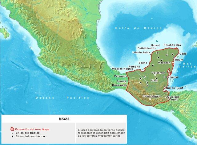 Localização geográfica dos maias (e temporal)